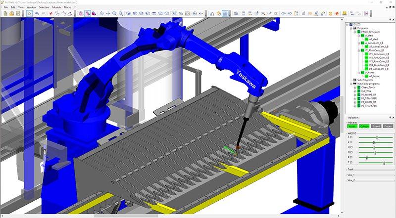 Products - CAD/CAM Software   Sheet metal working   Robotics - Almacam