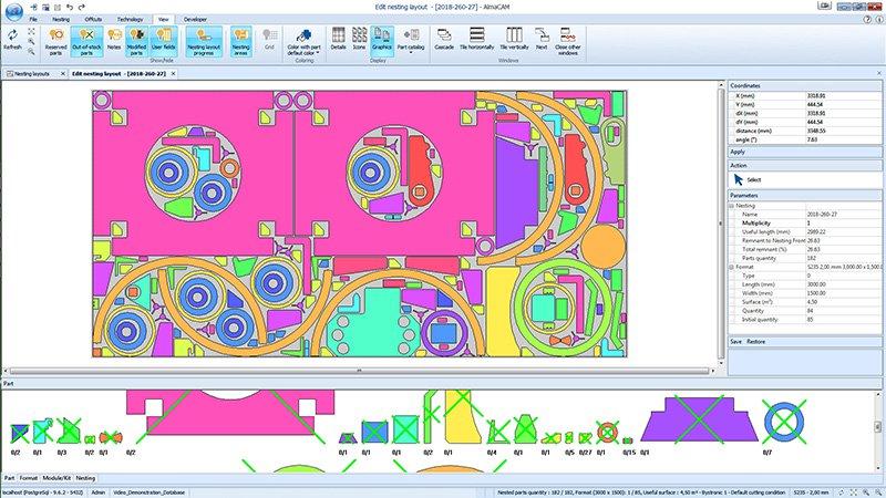 almaCAM Cut, CAD/CAM software for 2D cutting - Almacam